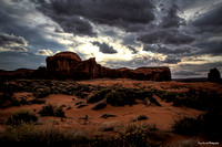 Monument Valley Back Country Sunset