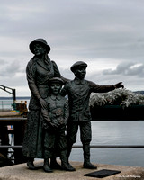 Annie Moore w-brothers Phillip & Anthony, Jeanne Rhynhart, Cobh Harbor