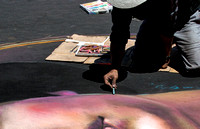 Chalk Artist at Work 2
