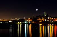 Moon Over Coit Tower - for print